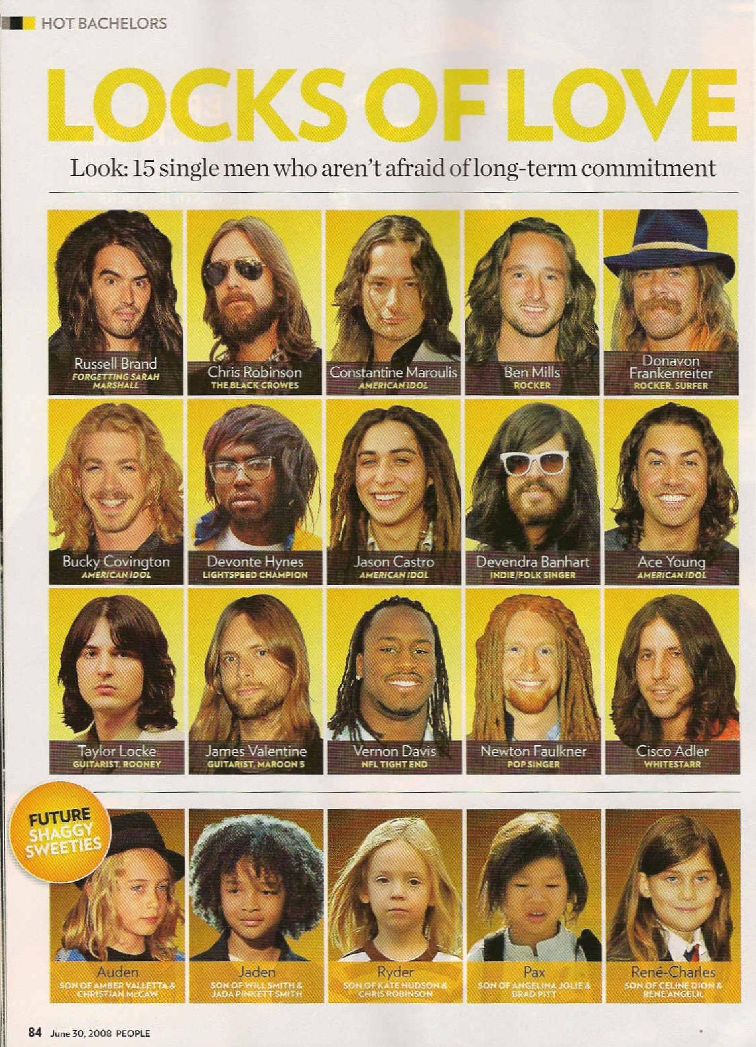 Lock of Love Vernon Davis People Magazine June 30th 2008 issue