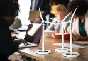 Image showing three windmill design on the table.