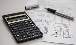 Accounting calculator and sheet