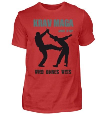 Krav Maga - Who Dares Wins - Herren Premiumshirt-4