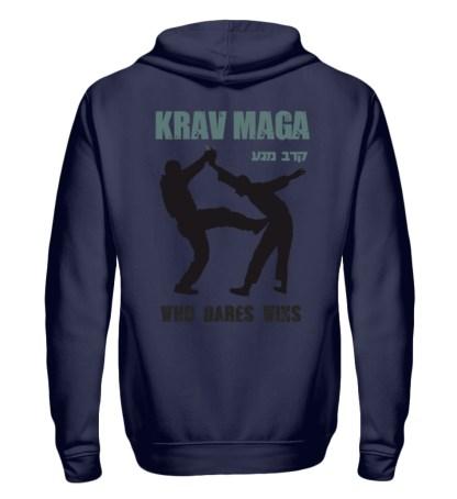 Krav Maga - Who Dares Wins - Zip-Hoodie-198