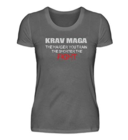 Krav Maga - The Harder You Train... - Damen Premiumshirt-627