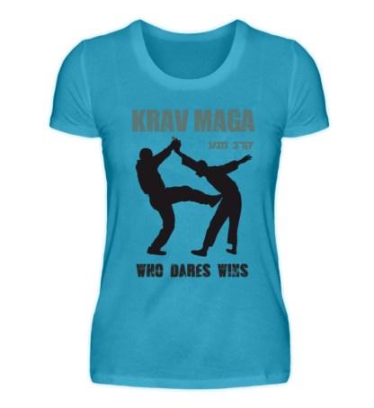 Krav Maga - Who Dares Wins - Damen Premiumshirt-3175