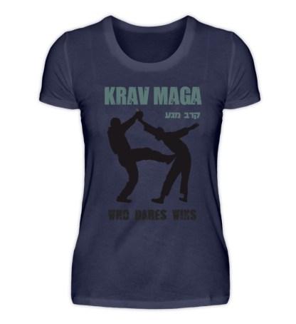 Krav Maga - Who Dares Wins - Damen Premiumshirt-198