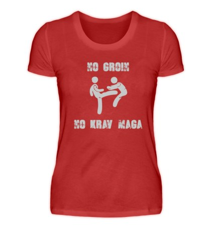 No Groin - No Krav Maga - Damen Premiumshirt-4