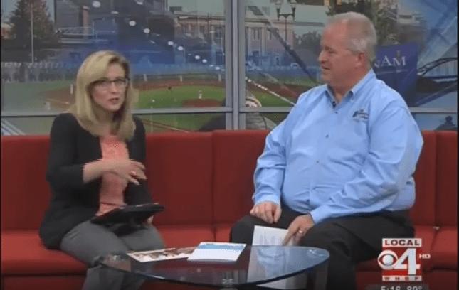 Scott Schnieder being interviewed on WHBF Local 4 news