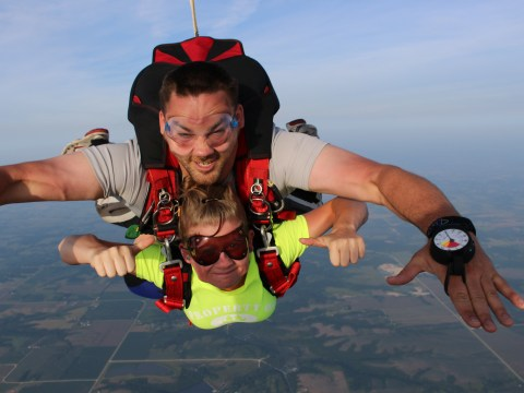 Jordan Sperry (SCC Rad Tech, FL'18)- went skydiving