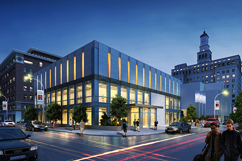 Urban Campus East Building at Night
