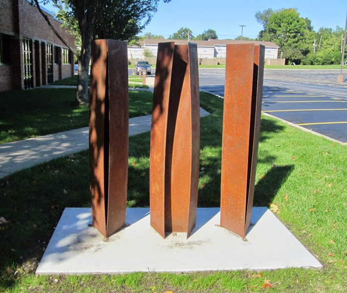 Sculpture, Rules of Civility by Kristin Garnant of Camache, IA