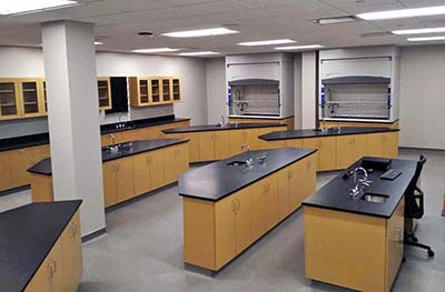New science lab classroom