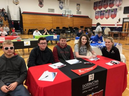 Future SCC students at Camanche High School College signing event