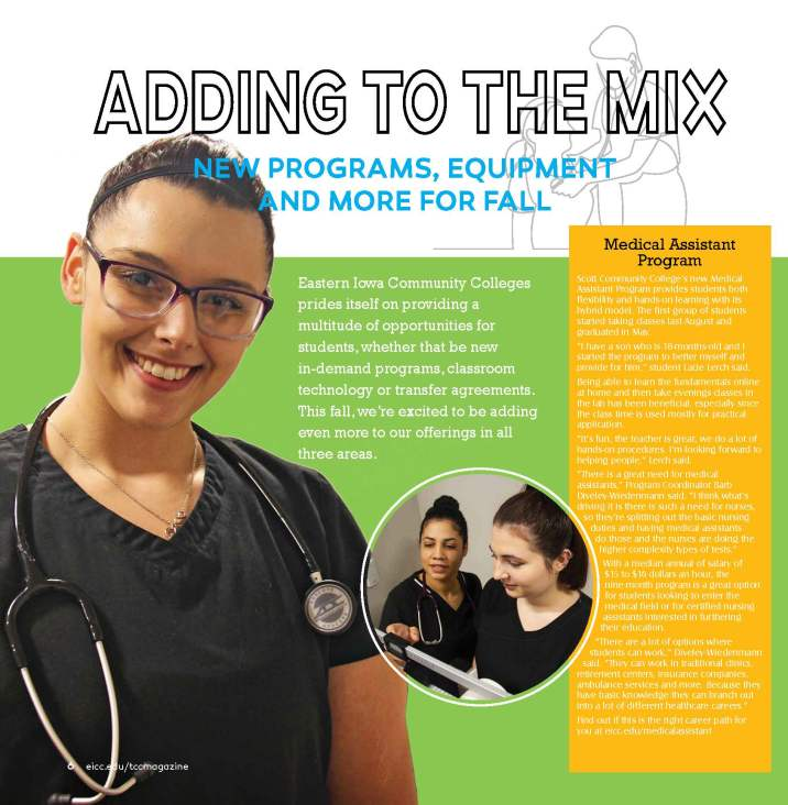 Adding to the mix magazine page layout