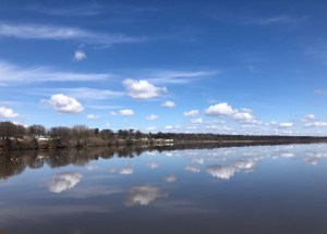 """""""Rock River between Sterling and Rock Falls, IL"""" by Beth Hafner, English Faculty at CCC"""