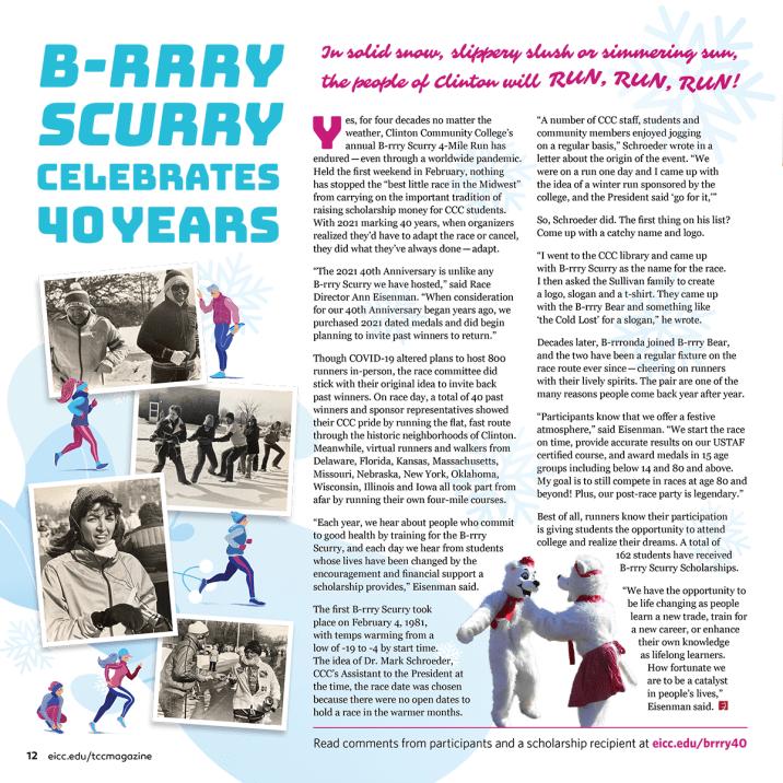 B-rrry Scurry Magazine Layout
