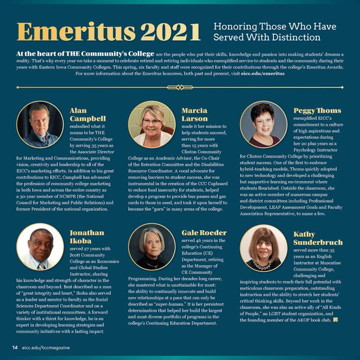 Emeritus 2021 Magazine Layout
