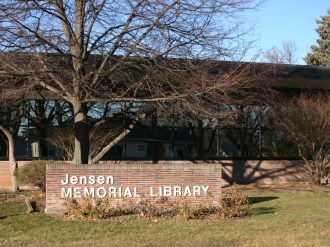 Glass work done by Tri-County Glass Inc. | Jensen Memorial Library - Minden, NE