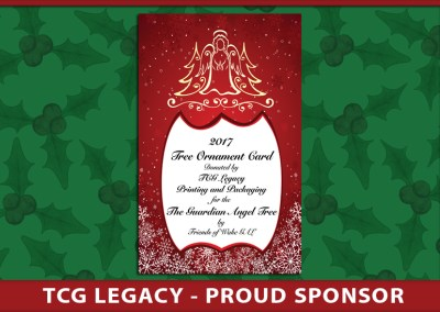 The Guardian Angel Tree 2017 Ornament Card