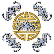 Symbol peti netopyru = happiness, good fortune, casto k videni