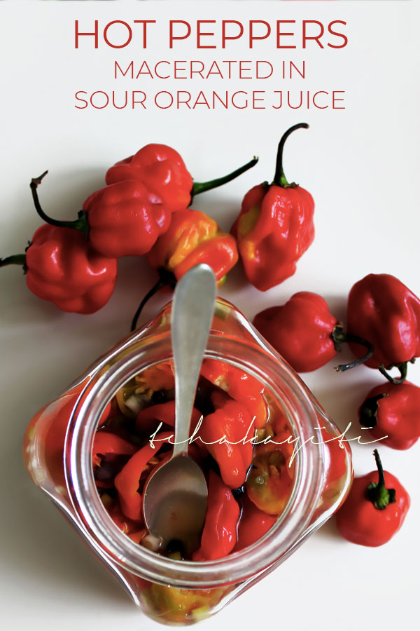 A sour orange infused hot pepper sauce recipe from Haiti | tchakayiti.com
