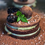 This unusual dessert is made of layers of flattened rum infused Haitian chocolate truffles and a sweet sour orange custard. A true delight for your tastebuds.   tchakayiti.com