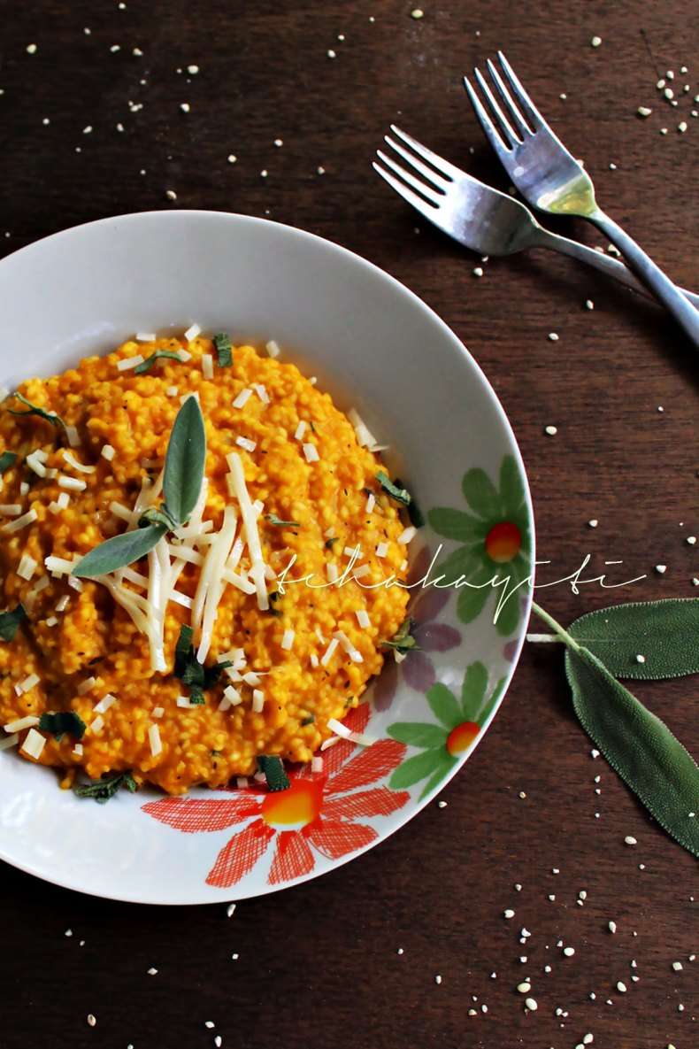 This risotto stlye pumpkin giraumon millet is easy to make and brings those grains to another level. Grab the recipe on the blog.   tchakayiti.com