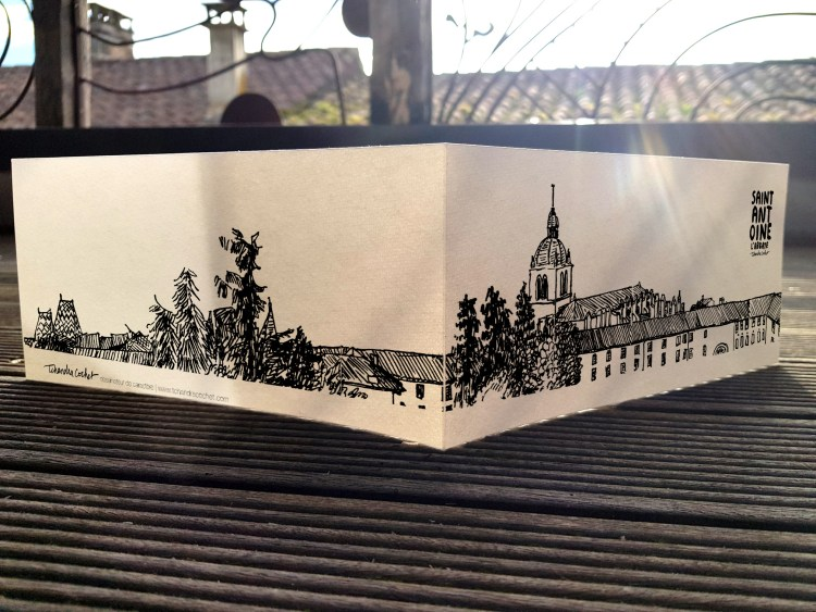 Carte postale créateur abbaye de Saint-Antoine