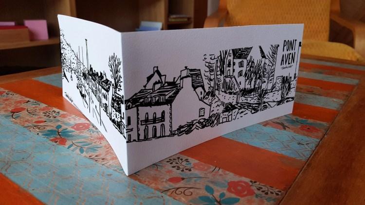 Carte panoramique Pont-Aven le port