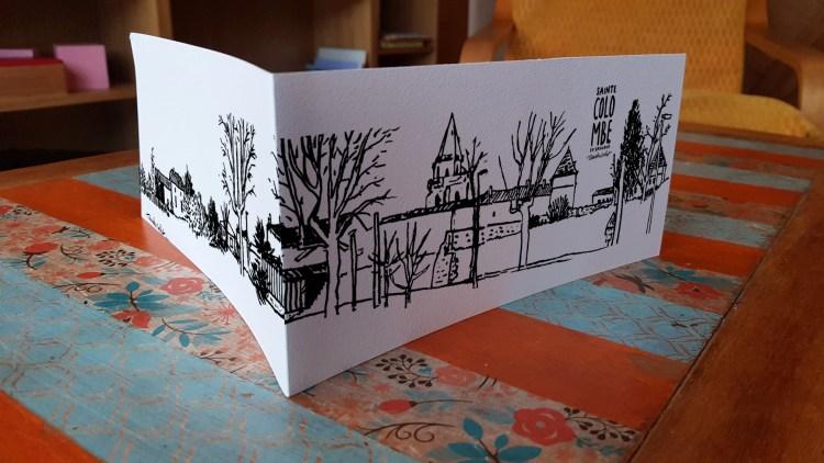 Carte postale panoramique Sainte-Colombe en Bruilhois