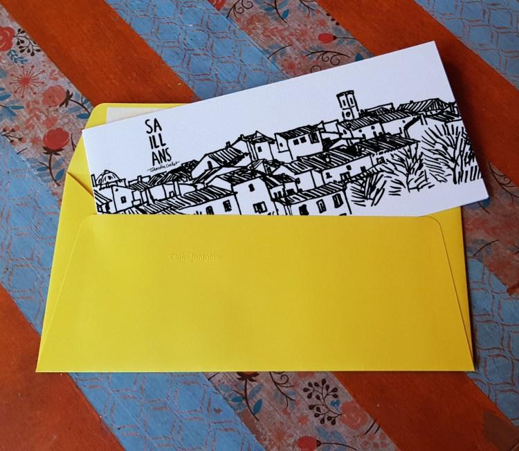 Carte postale dessin Saillans