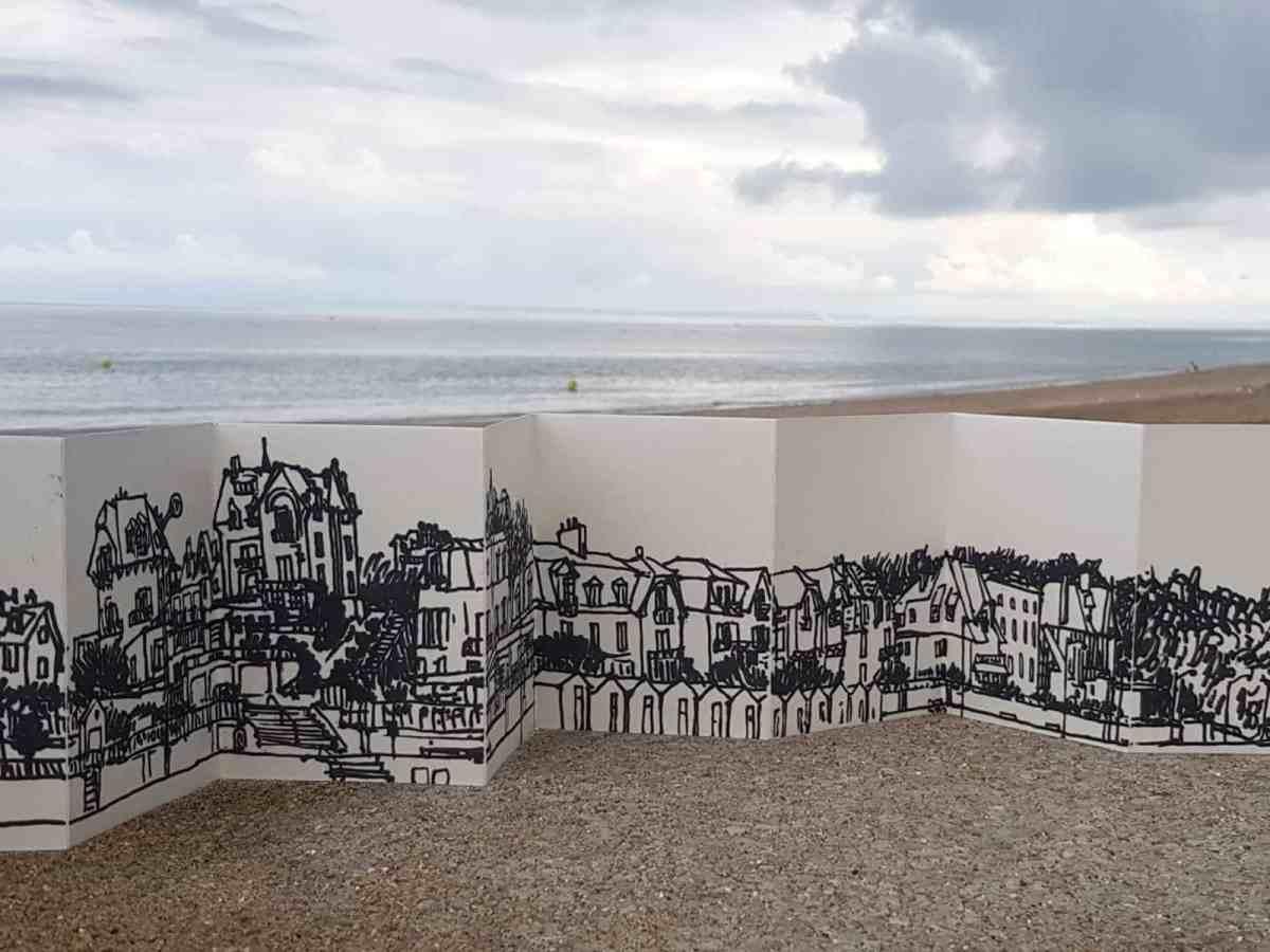 Dessin panoramique de Villers-sur-Mer