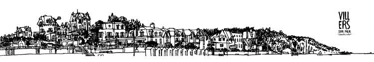 Affiche panoramique Villers-sur-Mer