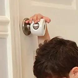 Child Safety Door Knob Cover to Prevent Locking