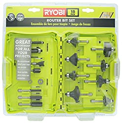 Ryobi A25R151 Carbide Edge 15 Piece Router Bit Set for all Woodwork Projects