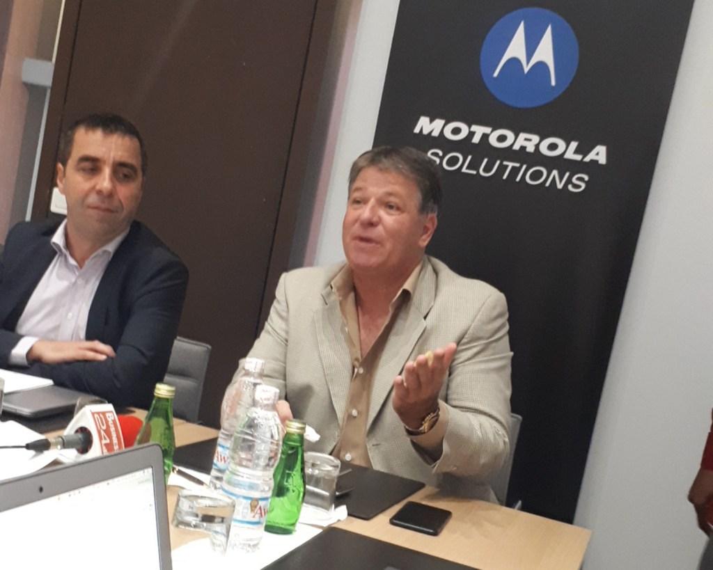 Laurent Tribout et Remi Inzé de Motorola Solutions
