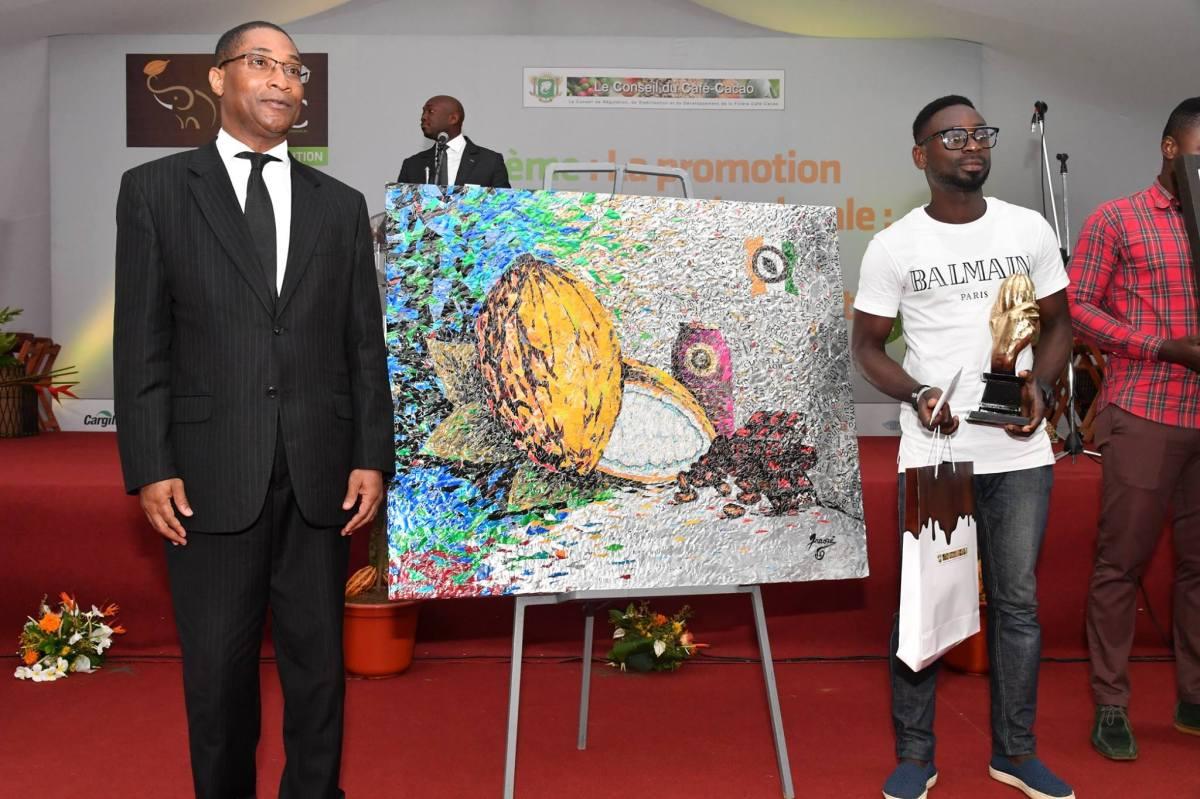 M. Traoré Wilfried, 1er prix Toile Cacao JNCC