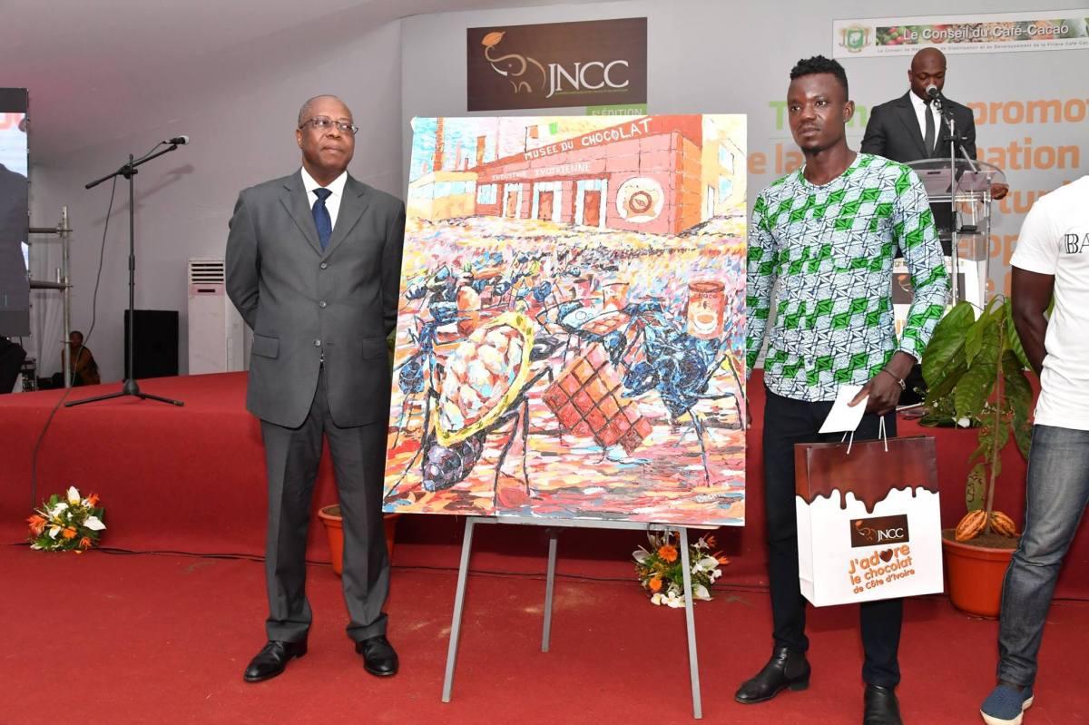 M. Touré Bamory, 3e prix toile cacao JNCC