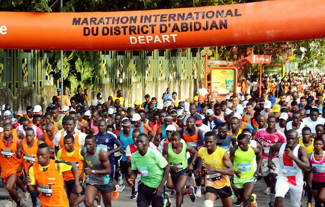 marathon international du district d'abidjan