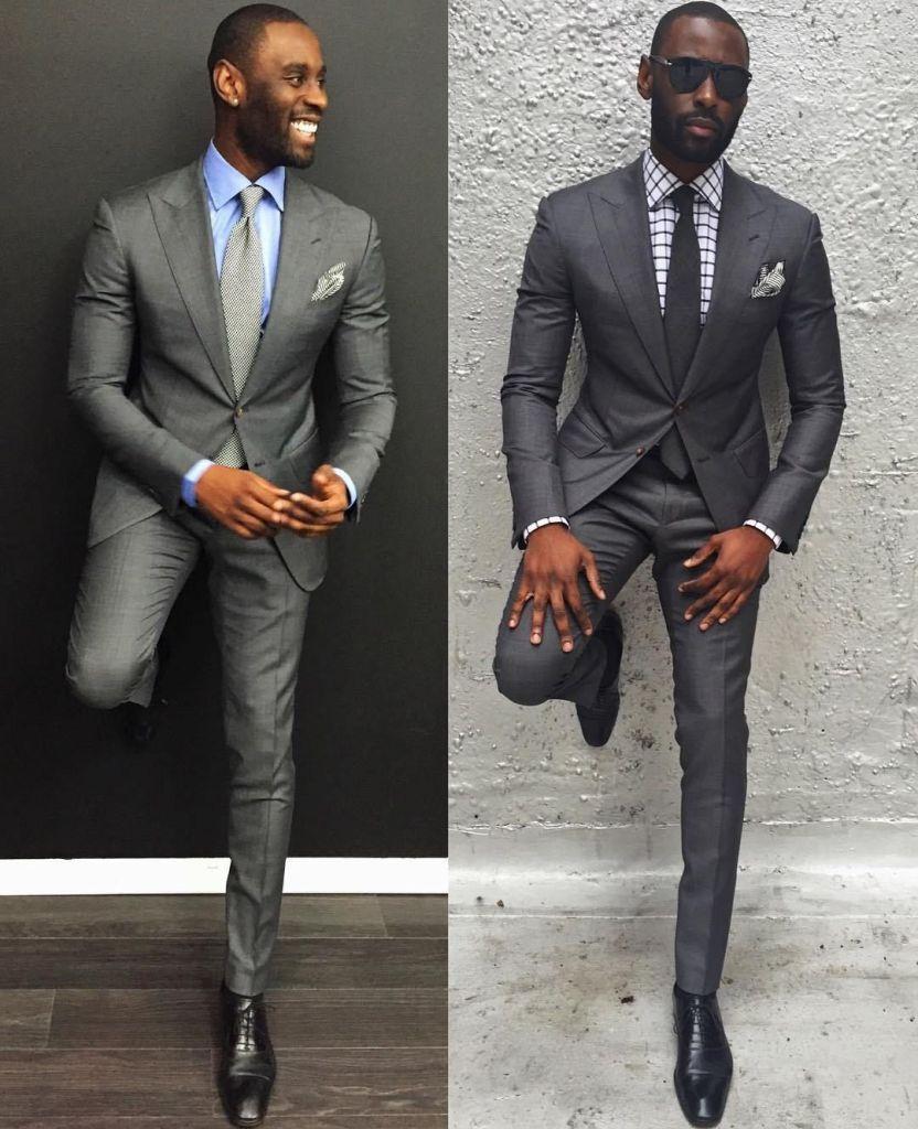 Davidson Frère en costume gris