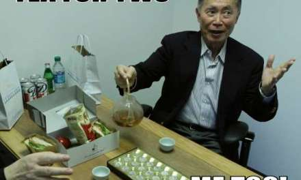 How I poured tea for George Takei