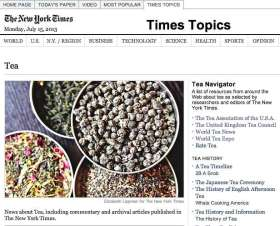 Tea and NY Times