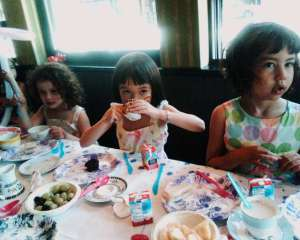 child's tea party
