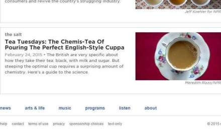 NPR launches tea Tuesdays