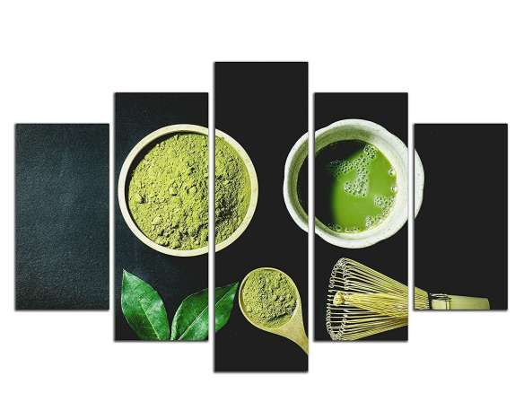 #20  NAN Wind 5 Piece Organic Green Matcha Tea in The Desk Wall Art Painting – $89.99
