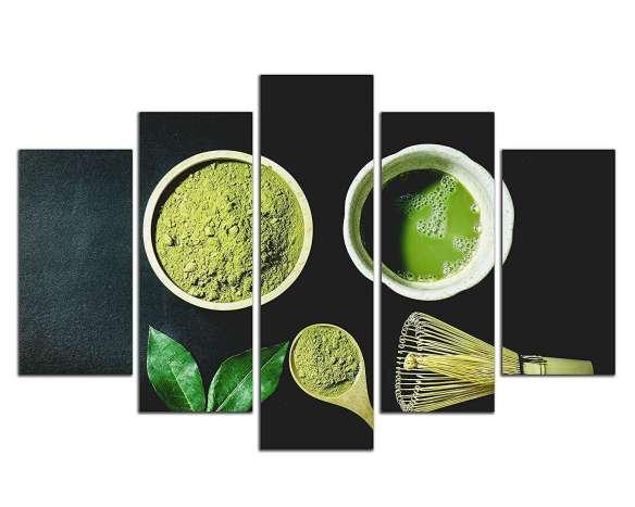 #20  NAN Wind 5 Piece Organic Green Matcha Tea in The Desk Wall Art Painting – $89.99