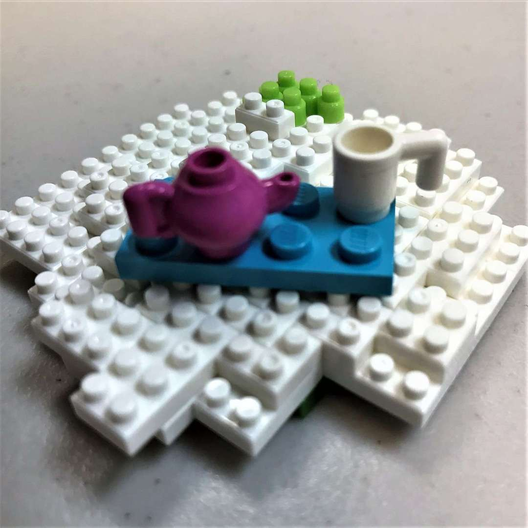 Tea table made with legos