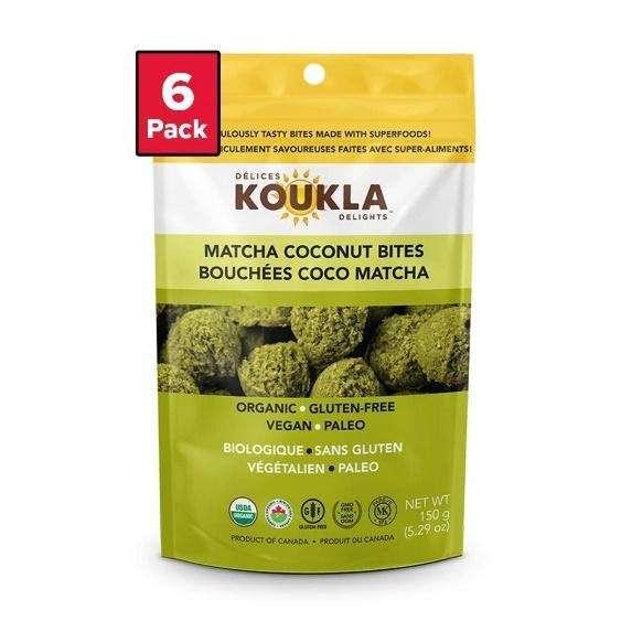 Photo of a package of Koukla Delights Matcha Tea Macaroons.