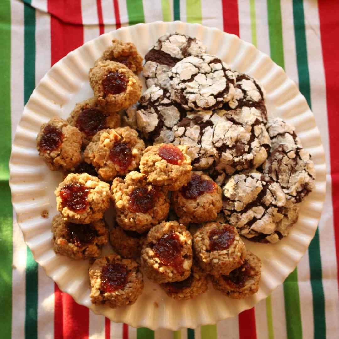 Holiday Tea Party - Photo of cookies on a serving platter