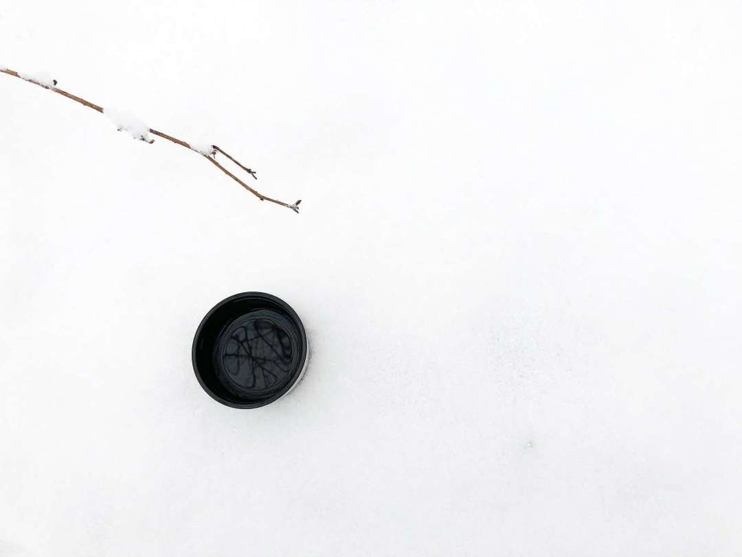 Tea Treats For Snowy Days - Photo of a cup of tea in snow