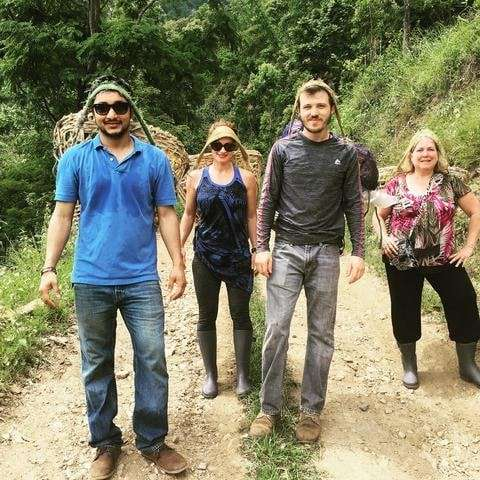 A Day In the Life at Nepal Tea's Family Farm - Some Visitors on a Tea Tour