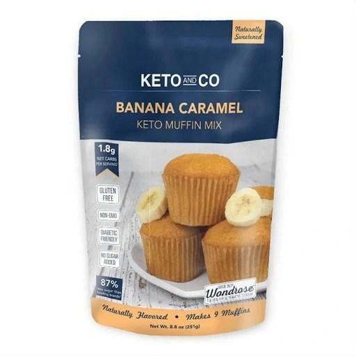 4 of 10 Non-Japanese Snacks: Banana Caramel Keto Muffin Mix